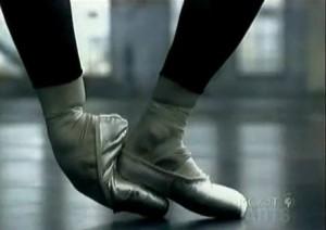 Alessandra Ferri's feet on Sting music video.